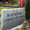 Proceeds from the Waukomis Sooner Celebration 5K Run have resulted in new picnic tables, light posts, sidewalks and landscaping improvements to the Waukomis Community. This year the proceeds from the August 24 event likely will go toward capital improvements at the Waukomis cemetery.  (Staff Photo by BILLY HEFTON)