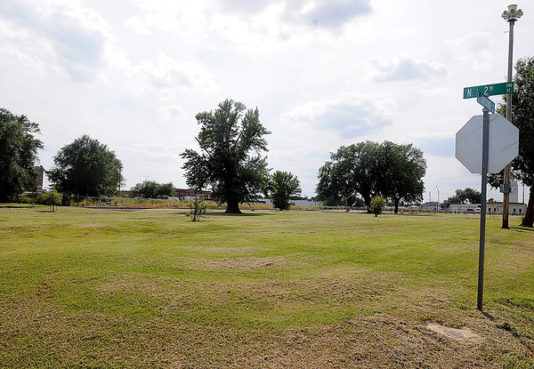 The City of Enid is moving the drop-off point for The Recycling Center near  700 N. 2nd and 100 E. Chestnut. The new location, near Frisco Park, will open Sept. 4. (Staff Photo by BONNIE VCULEK)