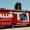 Gov. Mary Fallin's campaign bus tour stops at the Chisholm Trail Expo Center Saturday, August 23, 2014. (Staff Photo by BONNIE VCULEK)