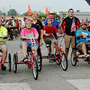 AmTryke riders begin the 9th annual AMBUCS Tour de Trykes Saturday, August 16, 2014. (Staff Photo by BONNIE VCULEK)