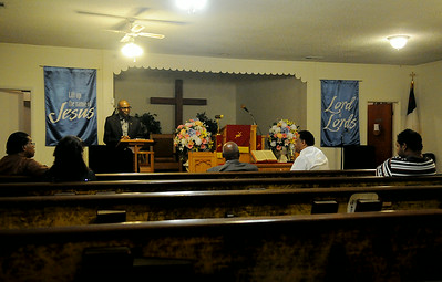 Progressive Missionary Baptist Church members attend worship services Sunday, August 24, 2014. (Staff Photo by BONNIE VCULEK)