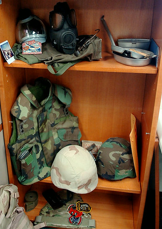 Examples of older generation gear issued to pilots when they deployed from Vance Air Force Base appears at the Logistics Readiness Squadron facility Wednesday, August 20, 2014. (Staff Photo by BONNIE VCULEK)