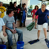 """Cheri Ezzell (right), executive director of CDSA, accepts the ALS Ice Bucket Challenge in style in front of The Non-profit Center Friday, August 22, 2014. The challenge issued by the United Way raises funds for ALS research, often referred to as """"Lou Gehrig's Disease."""" (Staff Photo by BONNIE VCULEK)"""