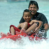 Splashing Fun on the Drop Zone at Splash Zone Saturday, August 9, 2014. (Staff Photo by BONNIE VCULEK)
