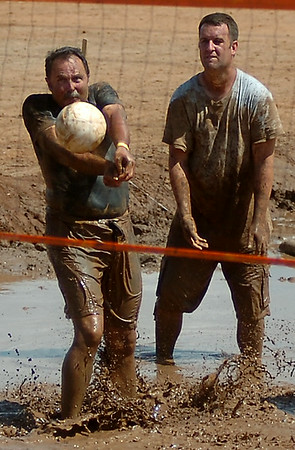 Enid Miracle League Mud Volleyball Tournament at the Garfield County Fairgrounds Saturday, August 02, 2014 (Staff Photo by BONNIE VCULEK)