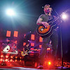 The Goo Goo Dolls' guitarist and vocalist John Rzeznik; bassist and vocalist Robby Takac and drummer George Tutuska perform at the Enid Event Center during the Daughtry/Goo Goo Dolls Summer Tour in Enid, Okla. Tuesday, August 05, 2014. The band, which formed in Buffalo, New York in 1986, have had 14 top ten singles on various charts and have sold more than 10 million albums worldwide. (Staff Photo by BONNIE VCULEK)