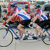 Tandem riders Loren and Debbie Clark approach the starting line as they participate in their eighth Tour de Trykes event Saturday, August 16, 2014. (Staff Photo by BONNIE VCULEK)