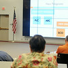 Dr. Jody Campiche, from Oklahoma State University, gives a 2014 Farm Bill Commodity Program update during the a symposium at Autry Technology Center Wednesday, August 13, 2014. (Staff Photo by BONNIE VCULEK)
