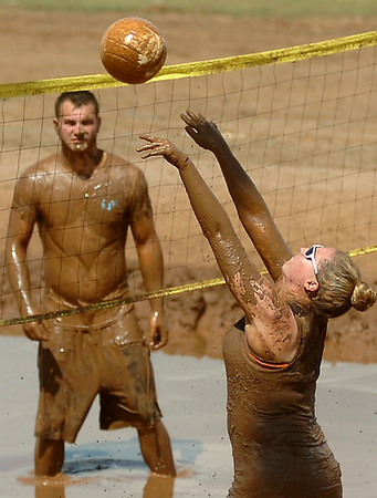 Enid Miracle League Mud Volleyball Tournament at the Garfield County Fairgrounds Saturday, August 02, 2014. (Staff Photo by BONNIE VCULEK)