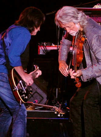 Nitty Gritty Dirt Band's Jeff Hanna and John McEuen (from left), entertain the crowd during their 2014 concert tour at the Enid Event Center Friday, August 01, 2014. (Staff Photo by BONNIE VCULEK)