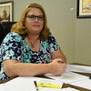 Tina Morgan inside the SBILC offices August 25, 2017. (Billy Hefton / Enid News & Eagle)