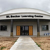 The M.L. Becker Learning Center being built at the Woodring Wall of Honor and Veteran's Park. (Billy Hefton / Enid News & Eagle)