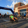 Cyclists begin the 12th annual Tour de Trykes in downtown Enid August 19, 2017. (Billy Hefton / Enid News & Eagle)