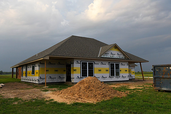 House under construction in Stonebridge Village Wednesday August 9, 2017. (Billy Hefton / Enid News & Eagle)