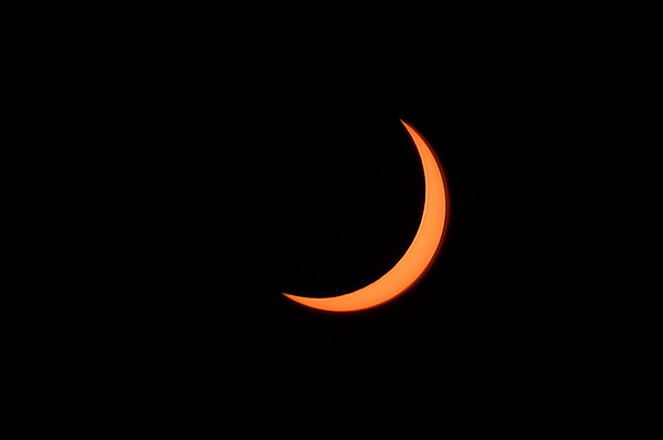Solar eclipse at 1:10 p.m. August 21, 2017. (Billy Hefton / Enid News & Eagle)