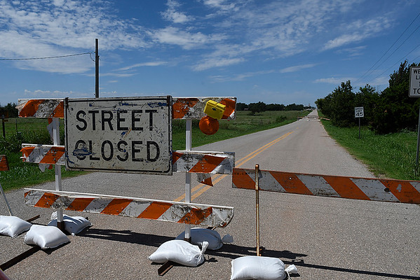 Bridge on Willow Rd. between 54th and 66th streets east of Pleasant-Vale Pioneer Elementary will be closed while a bridge is repaired August 18, 2017. (Billy Hefton / Enid News & Eagle)