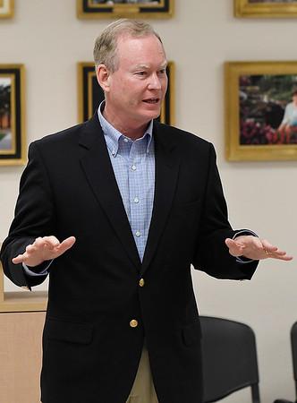 Republican gubernatorial candidate, Mick Cornett, talks during a candidate forum at the YWCA Enid Saturday August 18, 2018. (Billy Hefton / Enid News & Eagle)