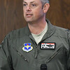 Col. Corey Simmons, Commander 71st Flying Training Wing Vance Air Force Base, talks to the Noon Rotary Monday August 13, 2018. (Billy Hefton / Enid News & Eagle)