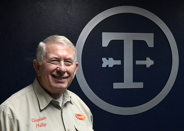 Rev. Phillip Kenedy, chaplin for the Tyson campus in Enid Wednesday, August 14, 2019. (Billy Hefton / Enid News & Eagle)
