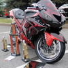 "A 2008 Kawasaki owned by Robert Kelly was one of the motorcycles in competition for ""Best Bike"" Saturday during the American Garfieldi Car and Motorcycle Show at Meadowlake Park North. (Staff Photo by BONNIE VCULEK)"