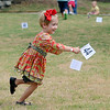 Lindy Northcutt stakes her claim at Adventure Quest during Leonardo's Family Fun Festival Sunday. All activities at Leonardo's Discovery Warehouse and Adventure Quest were free to the public as part of the Cherokee Strip Celebration festivities. (Staff Photo by BONNIE VCULEK)