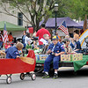 The Boy Scouts of America, from Pack 71, participate in the Cherokee Strip Celebration parade Saturday. (Staff Photo by BONNIE VCULEK)
