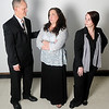 Justin Werner, portrays Gibby Hayden, Tammy Wilson, plays Suzanna Hayden, and Nikki Nixon, portrays Beth Bailey during a rehearsal for Gaslight Theatre's production of 'Til Beth Do Us Part Thursday. Performances are September 14-15 and 21-22 at 8 p.m. and Sunday, September 23 at 2 p.m. under the direction of Larry King. The six member cast also includes Penny Dowell as Margo James, Debbie Kretchmar as Celia Carmichael and Xander Singleton as Hank James. (Staff Photo by BONNIE VCULEK)
