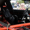 Wesley Boles, 5, peers inside Dale Earnhart's No. 3 Nascar Saturday during the American Garfieldi Car and Motorcycle Show at Meadowlake Park North. Proceeds from the event benefit the Vietname Memorial Wall effort. (Staff Photo by BONNIE VCULEK)