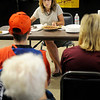 Donna Robison judges the pie contest Friday at the Garfield County Fair. (Staff Photo by BILLY HEFTON)