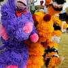 Puppets hang at the booth of Rudy Bartlett during the Cherokee Strip Celebration Saturday. (Staff Photo by BILLY HEFTON)