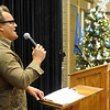 John Beegle sings during the Hospice Circle of Love Tree of Life lighting ceremony Sunday at the NOC-Enid Gantz Center. (Staff Photo by BILY HEFTON)