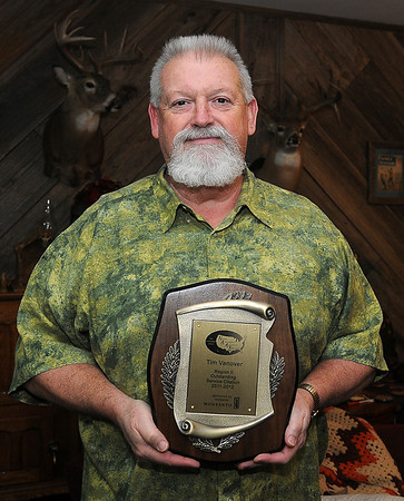 Tim Vanover was recently awarded the Region II Outstanding Service Citation by the National Association of Agricultural Educators. (Staff File Photo by BONNIE VCULEK)