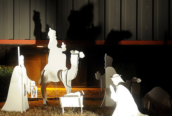 """Willow View United Methodist Church nativity displays the """"Reason for the Season"""" during the Christmas holiday. (Staff Photo by BONNIE VCULEK)"""