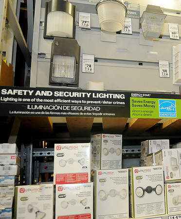 Lowe's offers a variety of safety and security lighting that may help prevent or deter crimes. (Staff Photo by BONNIE VCULEK)