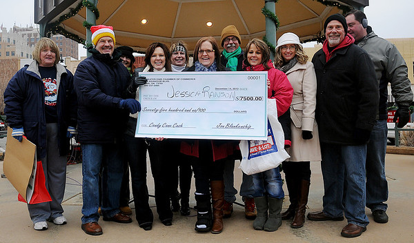 Candy Cane Cash grand prize winner, Jessica Ransom (Staff Photo by BONNIE VCULEK)