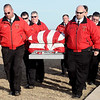Waukomis Fire & Rescue carry the remains of fellow firefighter Ronald Tuma to his final resting place at Bison Cemetery Wednesday, Dec. 18, 2013. (Staff Photo by BONNIE VCULEK)
