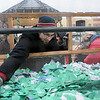 Scotty Maxwell mixes the tickets up before the 10th annual Candy Cane Cash drawing on the Garfield County Courthouse lawn Saturday, Dec. 14, 2013. (Staff Photo by BONNIE VCULEK)