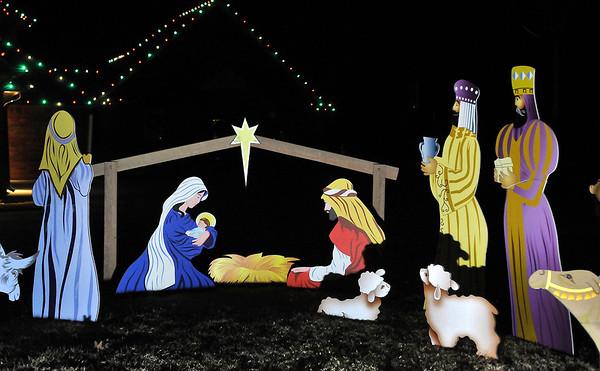 Nativity scene at 2728 Falcon Crest Drive. (Billy Hefton / Enid News & Eagle)