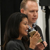 "Michelle Malkin and Brian Bates listen to a phone call from Daniel Holtzclaw during a Q&A section following a screening of ""Daniel in the Den"" Saturday December 10, 2016 at the Central National Bank Center. (Billy Hefton / Enid News & Eagle)"