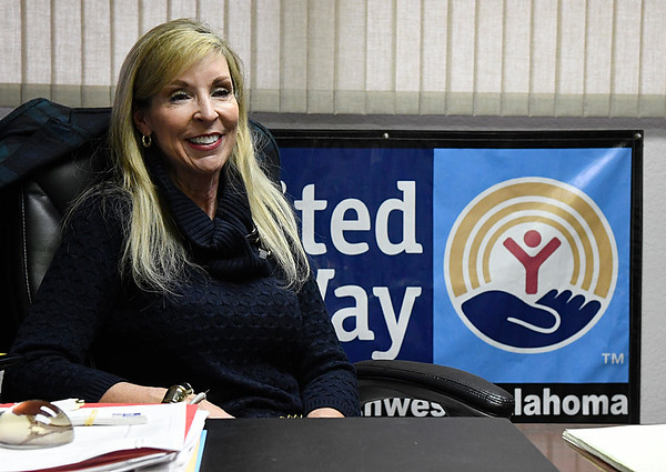 Pam Ballard, executive director of United Way of Enid and Northwest Oklahoma, during an interview Friday December 16, 2016. (Billy Hefton / Enid News & Eagle)