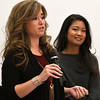 "Jenny Holtzclaw answers a question as Michelle Malkin stands near during a Q&A section following a screening of ""Daniel in the Den"" Saturday December 10, 2016 at the Central National Bank Center. (Billy Hefton / Enid News & Eagle)"