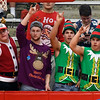 Chisholm High School student wear their holiday finest for the basketball game against Blackwell Thursday December 15, 2016 at Chisholm High School. (Billy Hefton / Enid News & Eagle)