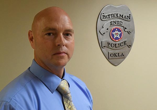 New Enid Police Department Captain Tim Jacobi. (Billy Hefton / Enid News & Eagle)