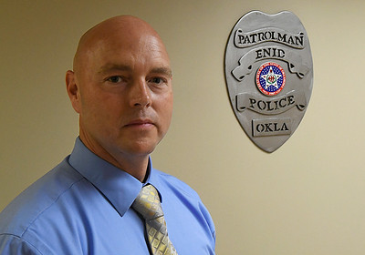 New Enid Police Department Captain Tim Jacobi. (Billy Hefton / Enid News & Eagle)