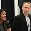 "Michelle Malkin answers a question as Brian Bates stands near during a Q&A section following a screening of ""Daniel in the Den"" Saturday December 10, 2016 at the Central National Bank Center. (Billy Hefton / Enid News & Eagle)"