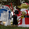 A Star Wars themed Christmas display at a home on Rolling Oaks Thursday December 15, 2016. (Billy Hefton / Enid News & Eagle)