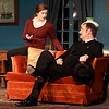 "Bailey Wilson and Mat Perkins rehearse a scene from the Gaslight Theater production of ""The Mousetrap"" Wednesday December 6, 2017 at the Gaslight Theater. (Billy Hefton / Enid News & Eagle)"