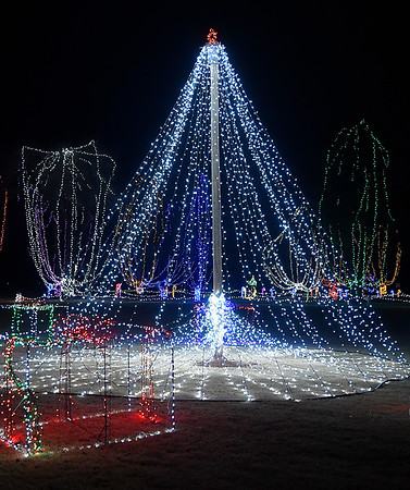 Kingfisher Winter Nights Monday December 3, 2018. The light display runs through December 24, opening at 6 p.m. each night. (Billy Hefton / Enid News & Eagle)