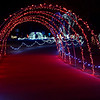 Light tunnels through Kingfisher Winter Nights Monday December 3, 2018. The light display runs through December 24, opening at 6 p.m. each night. (Billy Hefton / Enid News & Eagle)