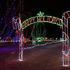 Entrance to the walking path through Kingfisher Winter Nights Monday December 3, 2018. The light display runs through December 24, opening at 6 p.m. each night. (Billy Hefton / Enid News & Eagle)